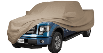 Taupe Block-It® 380 - Custom Fit Truck Cover with Mirror Pockets